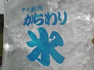 熱中症対策に甲子園名物「かちわり氷」